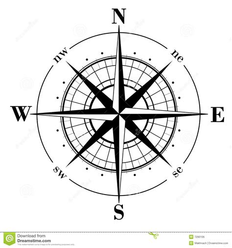compass rose royalty free stock image image 7290106