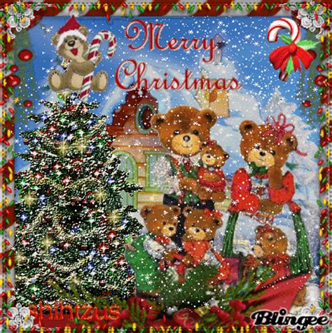 my house to yours to all my friends in blingee land have a beary merry christmas image 131422259