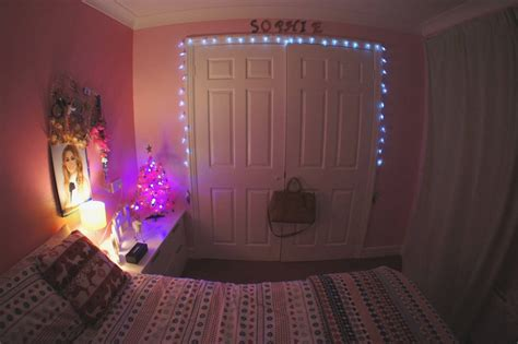 decorating with christmas lights in bedroom elegant other