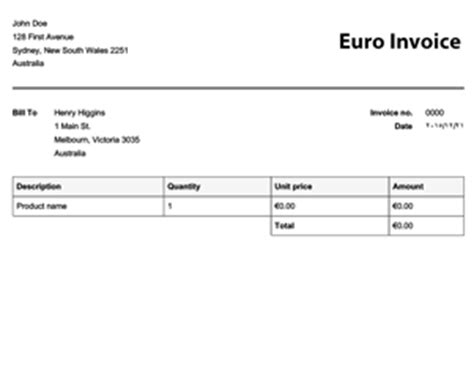 download invoice template euro free rabitah net