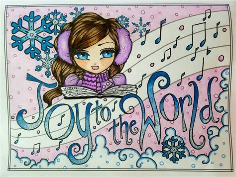 libro a whimsy girls christmas quot joy to the world quot from a whimsy girls christmas by hannah lynn finished coloring pages