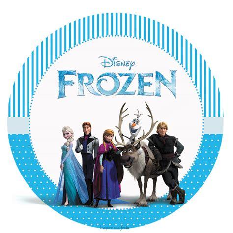 etiquetas circulares y toppers de frozen para decorar nuevos dise 241 os de etiquetas de frozen princesas disney