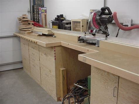 bench chop saw wood project boy miter saw station designs cheap balsa