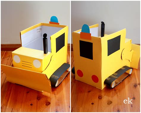 How To Make A Box Out Of Construction Paper - box vehicles emilia keriene