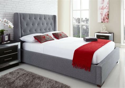 grey ottoman storage bed 17 best images about fabric bed and furniture on pinterest
