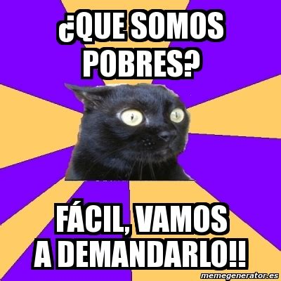 Anxiety Cat Meme Generator - meme anxiety cat 191 que somos pobres f 193 cil vamos a