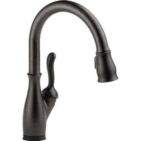 delta leland pull down kitchen faucet delta leland single handle pull down sprayer kitchen