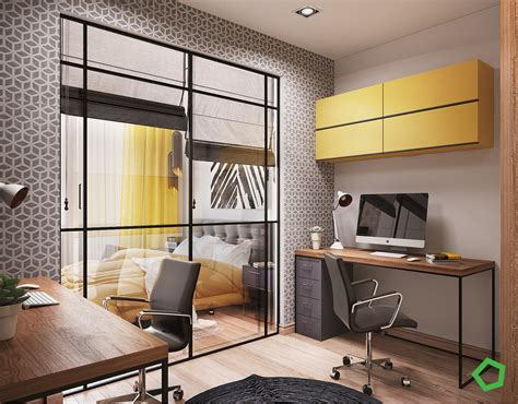 design inspiration for home 3 open layout interiors with yellow as the highlight color