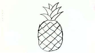 how to do simple doodle how to draw a pineapple in easy steps for children