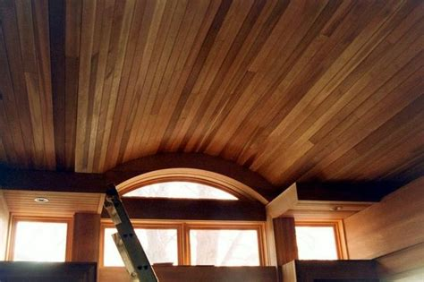 cedar tongue and groove ceiling covered porch gusset