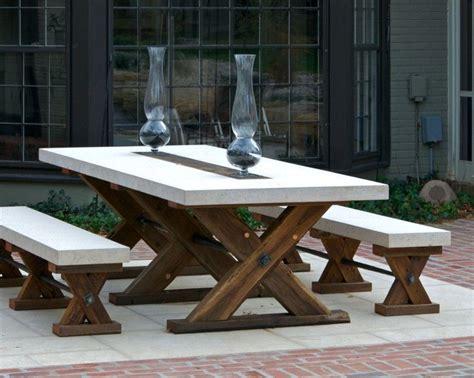 patio table ideas adorable wood patio furniture ideas featuring x shape