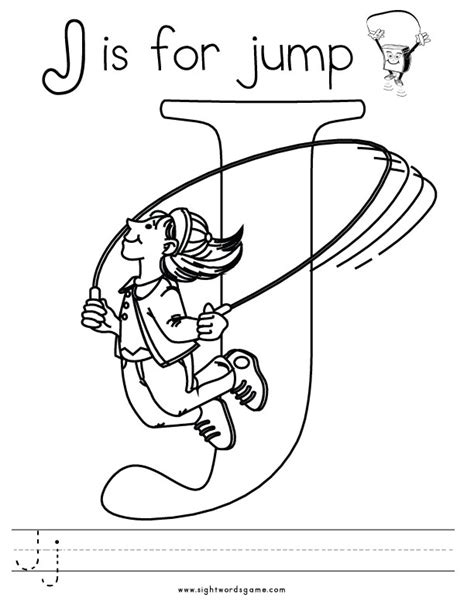 Letter J Coloring Page free coloring pages of alphabet letter j