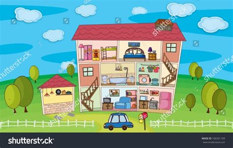 inside of a house illustration on inside house stock vector 100321109 shutterstock