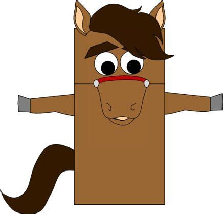 paper bag donkey pattern horse paper bag puppet 2014 year of the horse chinese