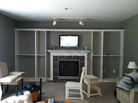 ikea bookcases around fireplace faux built in billy bookcase ikea hack hearthavenhome