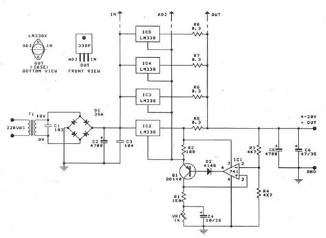 Lt Pro Dual Function Reguler 0 30v 20a high power supply with lm338