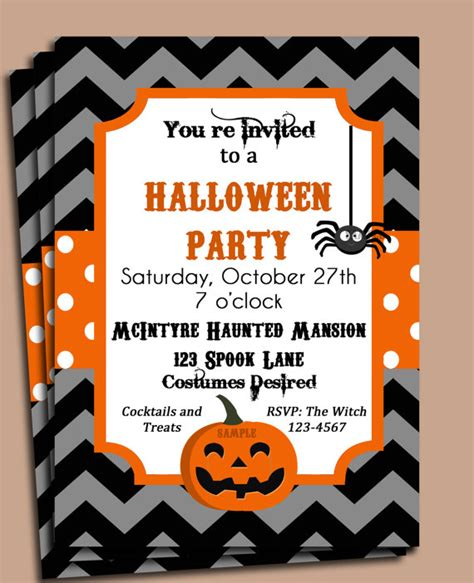 printable halloween party invitations print halloween party invitation printable festival collections
