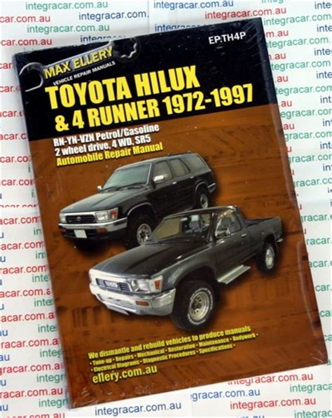 auto repair manual free download 1994 toyota 4runner navigation system toyota hi lux 4runner petrol repair manual 1972 1997 ellery new workshop car manuals repair