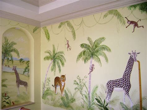 jungle wall mural jungle mural children s nursery jungle murals south florida