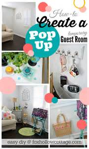 Temporary Guest Bed Options Diy Pop Up Guest Room Fox Hollow Cottage