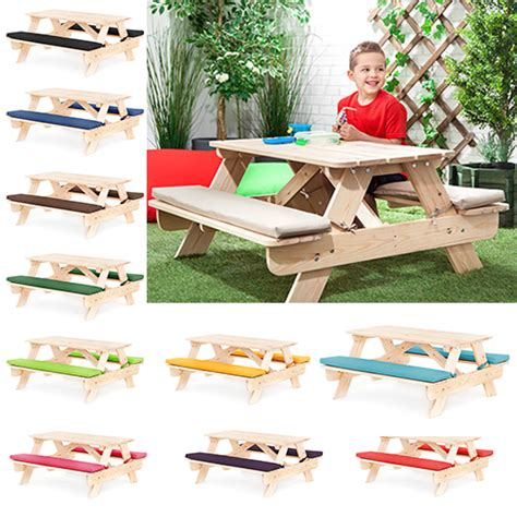 kids table and bench set children s kids outdoor furniture wood play picnic table