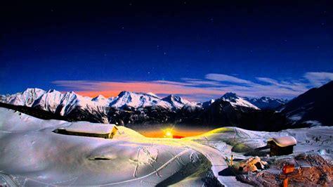 hour sunset sunrise time lapse   swiss high alps