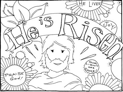 free coloring pages jesus has risen coloring pages