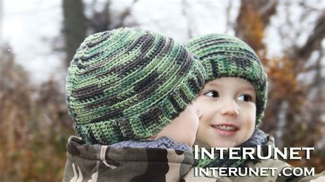 knitting pattern 2 year old hat how to crochet a camo hat for a child doovi