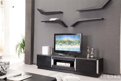 现代电视柜装修效果图大全2013图片 土巴兔装修效果图
