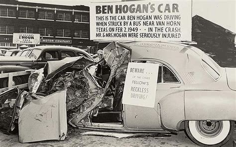 Hogans Seriously Injured In Car Crash by Ben Comeback After Car Crash To Win 1950 Us Open