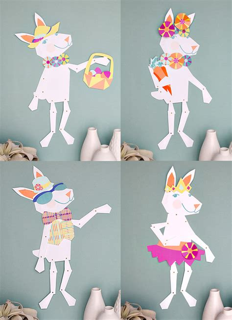 printable paper easter crafts easy easter fun with bunny paper printables handmade