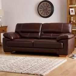 oak furniture land sofas clayton 2 seater sofa in brown leather oak furniture land