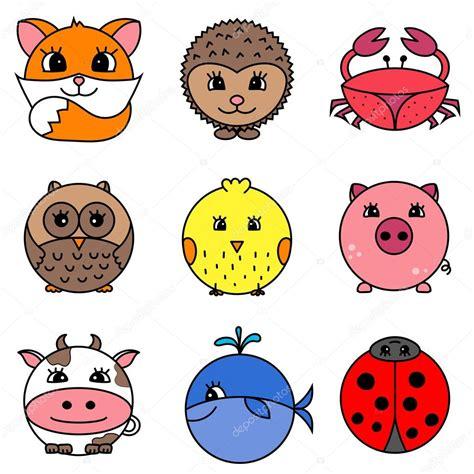 imagenes vectores de animales colecci 243 n de animales de dibujos animados lindo c 237 rculo