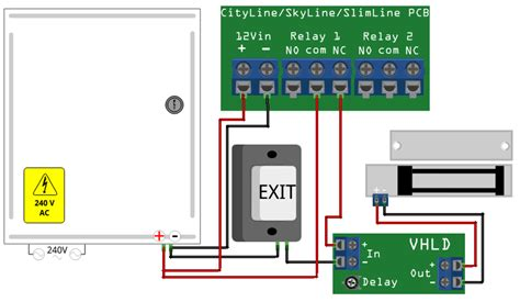 door entry wiring diagram 2 fail safe high power