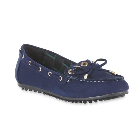 basic editions shoes basic editions s honor navy moccasin shoes