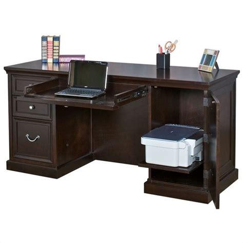 Kathy Ireland Home Office Furniture Kathy Ireland Home By Martin Fulton Pedestal Desk In Espresso Fl660