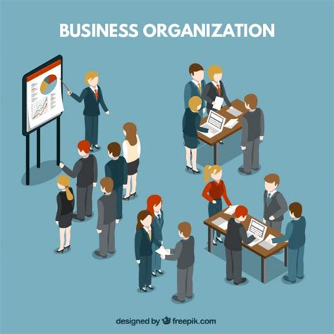 organizing business business organization illustration vector free download