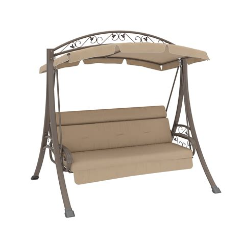 canopy swings corliving nantucket patio swing with arched canopy