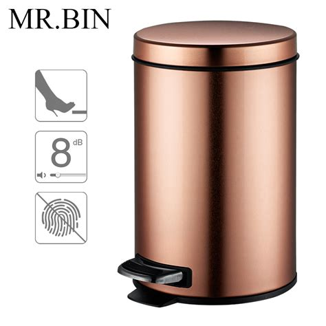 badezimmer trash can mr bin macaron 3 0 trash can stainless steel foot pedal