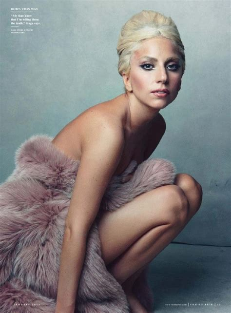 Vanity Gaga by Gaga Bares It All For Vanity Fair January 2012