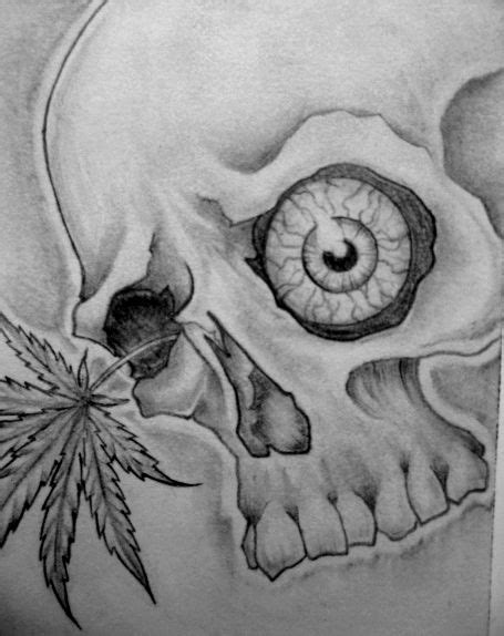 skull pot leaf tattoo designs skull eye designs