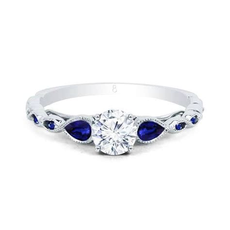 sapphire and engagement rings clara blue sapphire ring engagement