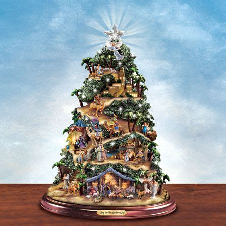 thomas kinkade illuminated tree skirt kinkade tree click on picture to see detail plays silent and is lighted