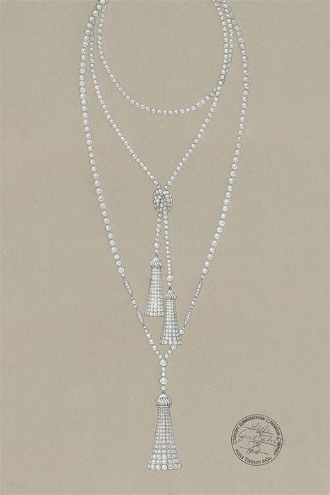 Interior Decor Home sketch pearl necklace from the great gatsby collection