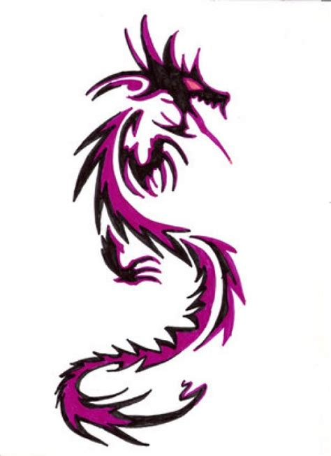 tattoo dragon purple color dragon tattoo designs with pictures