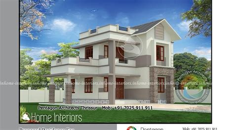 kerala house model at 1650 sq ft 1650 square feet double floor contemporary home design