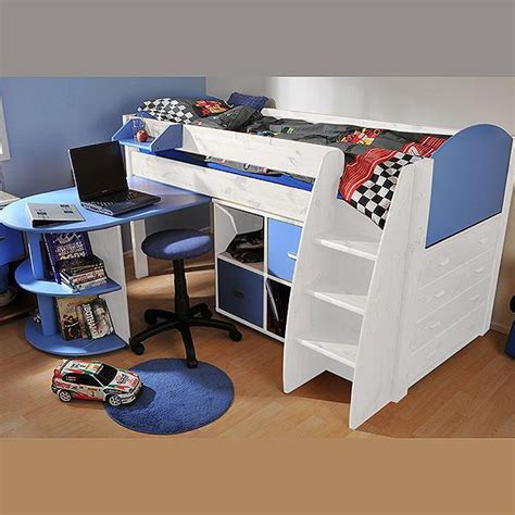 Kids Stompa Beds Furniture Uk High Sleeper Cabin Beds White Cabin Bed With Desk