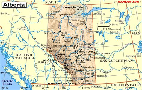 map of bc and alberta canada map of alberta and bc