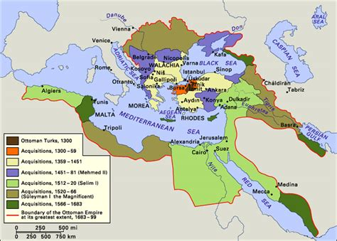 ottoman empire history ap world history map