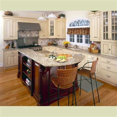 cream kitchen island cream cabinets dark island also for the home pinterest